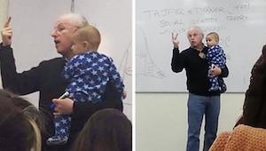 Nainen toi vauvan luennolle, luennoitsijan reaktio itkevää vauvaa kohtaan yllätt
