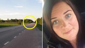 Nainen ajoi moottoritiellä, kun yhtäkkiä muut autot ympäröivät hänet. Hetken kul