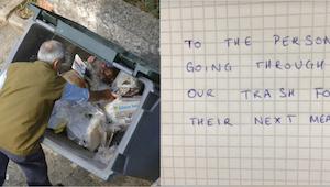 Ette ikinä usko, mitä ravintolan omistaja kirjoitti kodittomalle, joka penkoi he