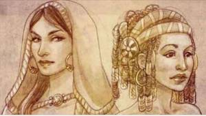 Kuoleva kuningas pyysi jokaista neljästä vaimostaan seuraamaan häntä kuoleman jä