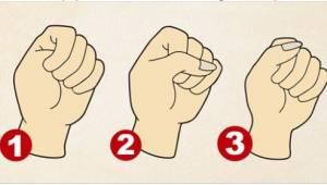 Purista käsi nyrkkiin ja tarkista, mitä se kertoo sinusta!