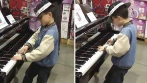 Poika meni pianon luo ja laittoi pystyyn sellaisen esityksen, että kaikki menivä