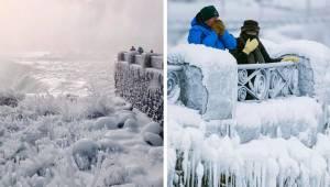Yhdysvalloissa on niin kylmä, että jopa Niagaran putoukset jäätyivät. Nyt kaikki