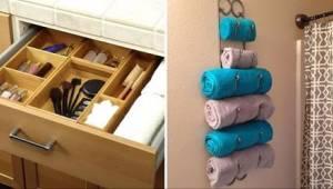 12 huvittavan nerokasta ideaa tavaroiden säilyttämiseen kylpyhuoneessa.