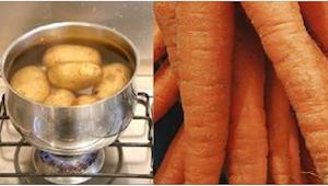 Tästä lähtien laitan kiehuvien perunoiden joukkoon porkkanan! Sääli, että en tie