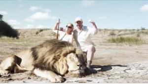 He tappoivat leijonan ja poseerasivat hymyillen matkamuistovalokuvassa. Se mitä