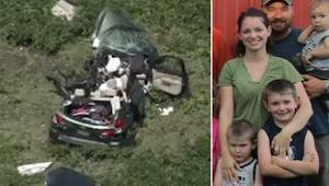 Kuljettaessaan lapsia leirille, hän ei odottanut, että yksi vieraan miehen tekst