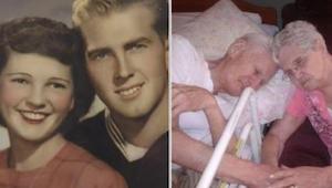 Mies menehtyi pitäen rakasta vaimoaan kädestä. Kun heidän tyttärensä katsoi sitt