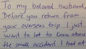 Mies huomasi vaimonsa pettävän häntä. Hän odotti vaimon syntymäpäivään asti kost