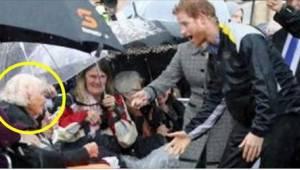 97-vuotias etsi katseellaan prinssi Harrya. Prinssi yllättyi nähdessään hänessä