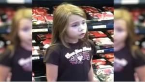 8-vuotiasta videoitiin hänen laulaessaan supermarketissa. Hänestä tuli internet-