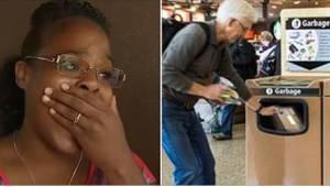 Nuori nainen näki iäkkään miehen heittävän kyynel silmässä lahjan roskikseen hen