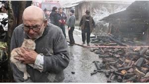 83-vuotias tarrautuu rakkaimpaan omaisuuteensa kun hänen talonsa paloi maan tasa